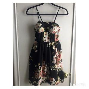 NWT - black floral dress